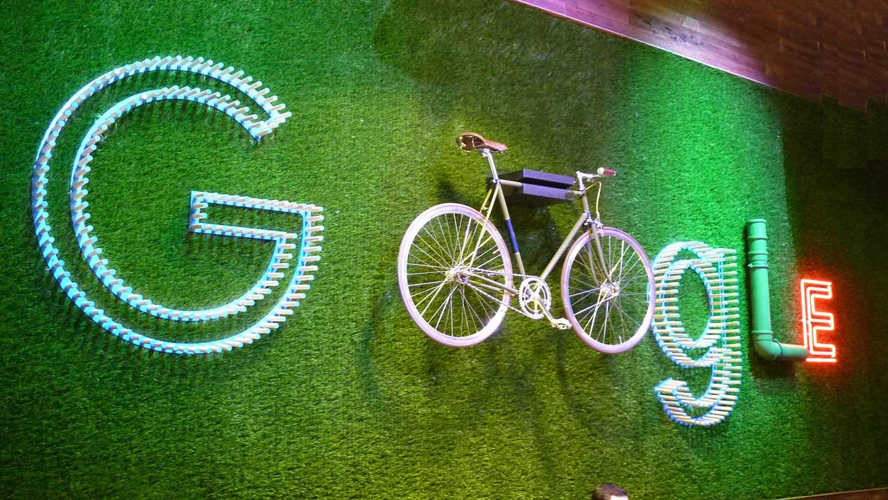 Das Fahrrad hat bei Google einen hohen Stellenwert