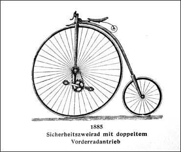 Fahrradgeschichte um 1885