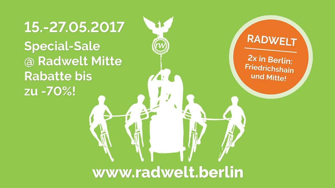 Neueröffnung & Special Sale der Radwelt in Berlin-Mitte