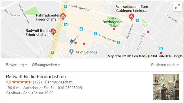 Fahrradladen Berlin Friedrichshain - Google Suche