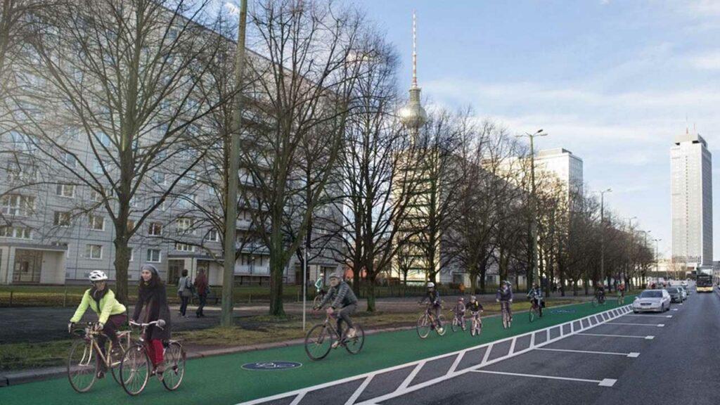 Fahrradstadt Berlin - Verkehrswege-Umbau in Berlin-Mitte