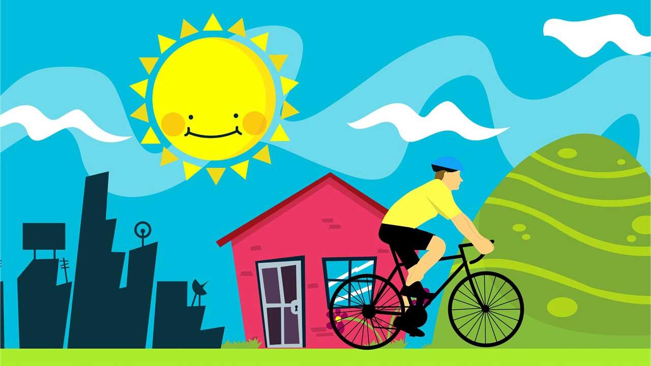 Fahrradfahren zu jeder Saison