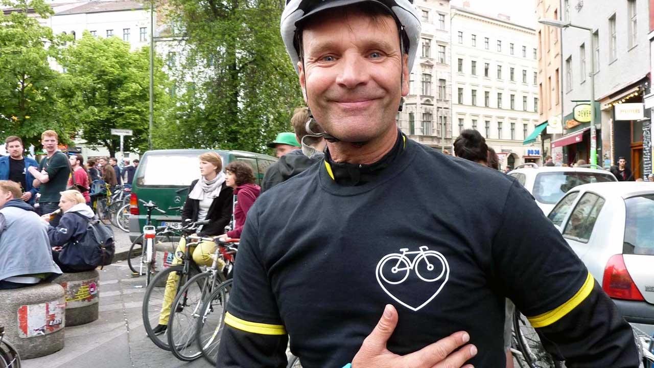 Critical Mass Berlin - T-Shirt Fahrradherz